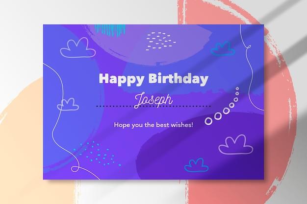 Conception abstraite de carte joyeux anniversaire