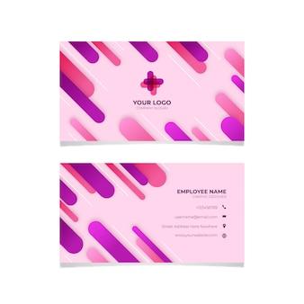 Conception abstraite de carte de visite rose