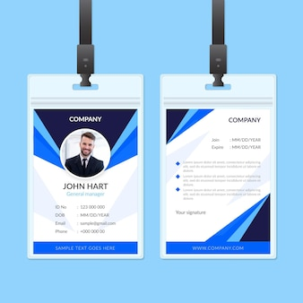 Conception abstraite de cartes d'identité