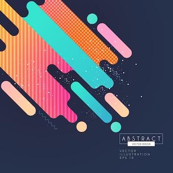 Conception abstraite colorée de formes