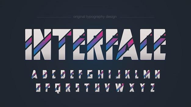 Conception abstraite colorée de typographie sci fi