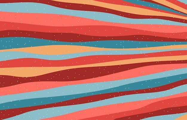 Conception abstraite de couleur corail vivant à la mode du motif de rayures de couleurs. conception qui se chevauche pour l'espace de copie de l'arrière-plan du texte. vecteur d'illustration
