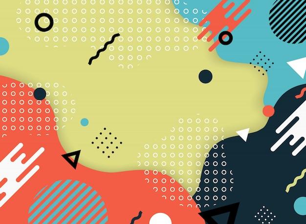 Conception abstraite de couleurs modernes de papier découpé fond de décoration.