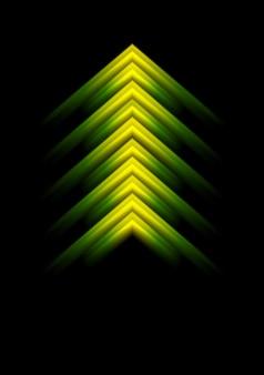Conception abstraite de flèche brillante. fond de vecteur