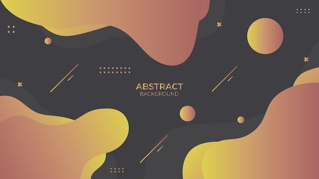 Conception abstraite fluide de fond avec objet géométrique, conception décorative dynamique dans un style abstrait