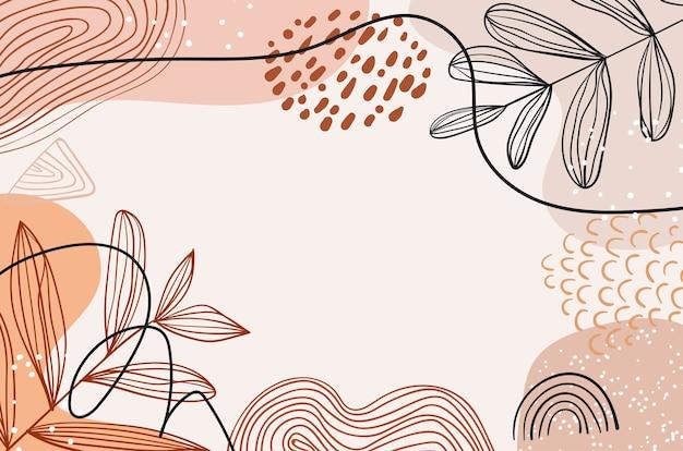 Conception abstraite de fond pastel floral