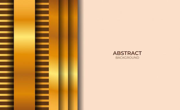 Conception abstraite fond rose clair et or