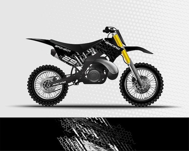 Conception abstraite de fond de sport pour le vélo de saleté de motocross de course de moto