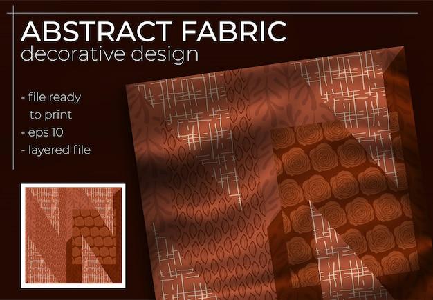 Conception abstraite de foulard en soie en carré pour impression hijab, foulard en soie ou foulard, etc.