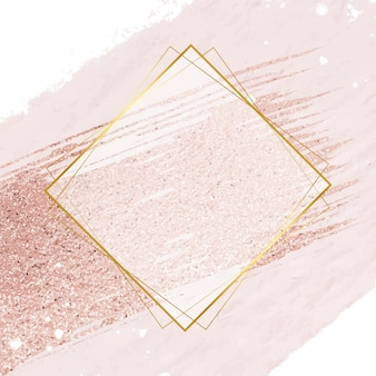 Conception abstraite de l'illustration du cadre doré