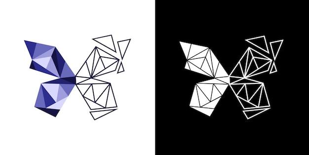 Conception abstraite de logo papillon géométrique