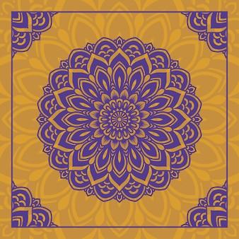 Conception abstraite de mandala ornemental