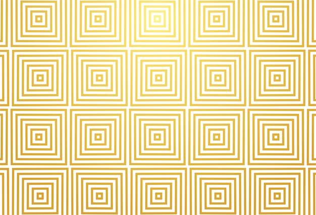 Conception abstraite de motif doré géométrique