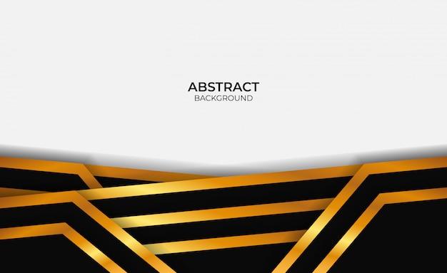 Conception abstraite d'or et de noir