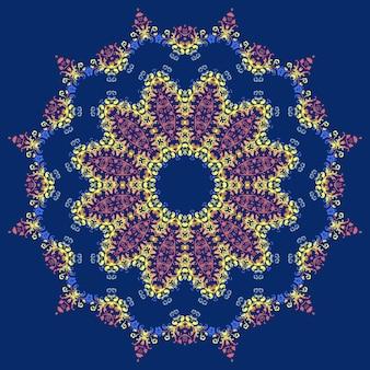 Conception abstraite ornementale mandala star pour carte de mariage