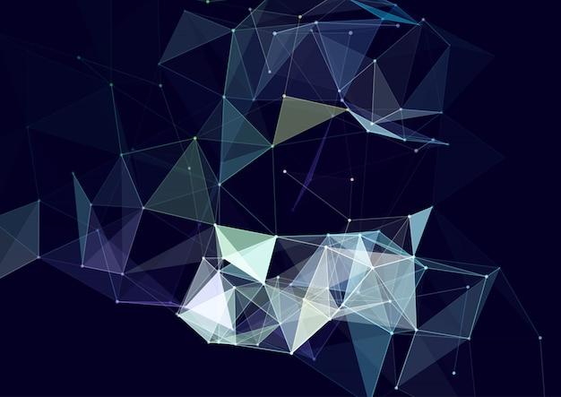 Conception abstraite de plexus avec lignes et points de connexion