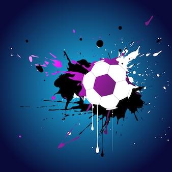 Conception abstraite de style football vectoriel