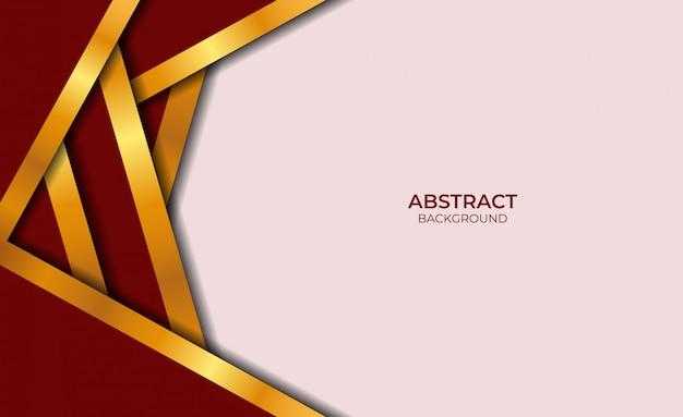 Conception abstraite de style rouge et or