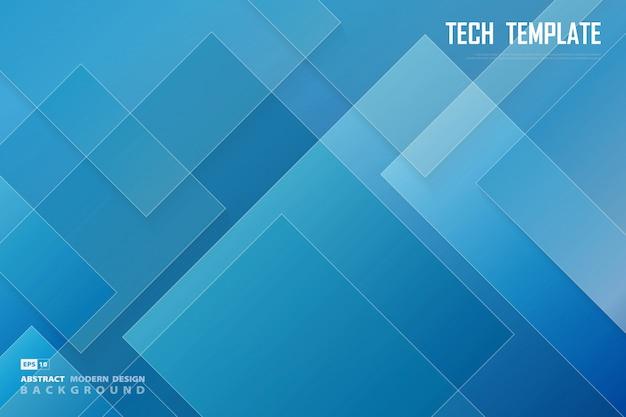 Conception abstraite de technologies bleu et blanc d'arrière-plan de présentation minimale.