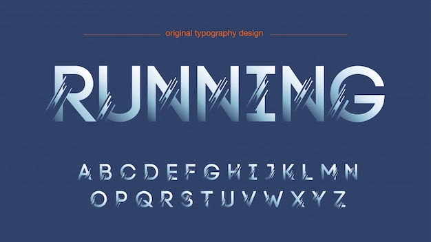 Conception abstraite de la typographie en tranches