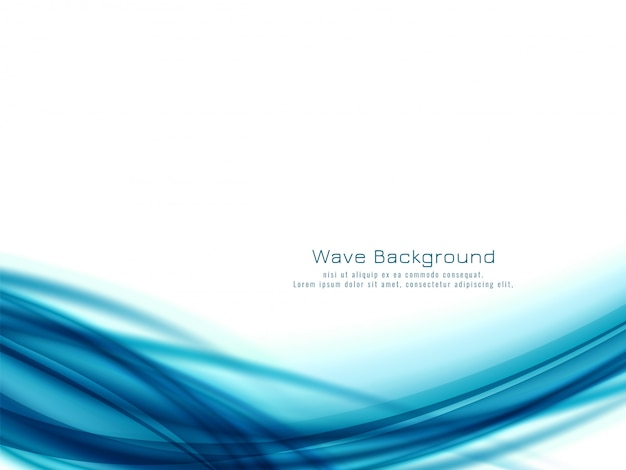 Conception abstraite de vague bleue
