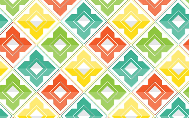 Conception abstraite de vecteur motif géométrique coloré.