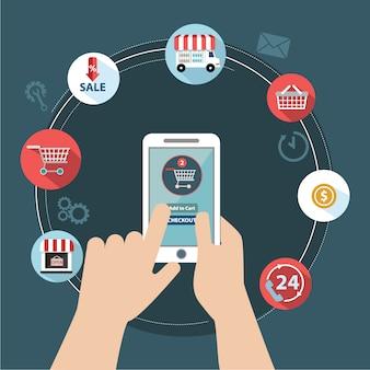 Conception d'achats en ligne