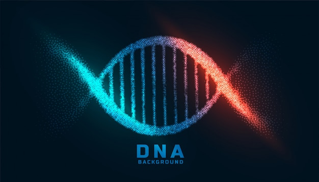 Conception d'adn numérique faite avec fond de particules