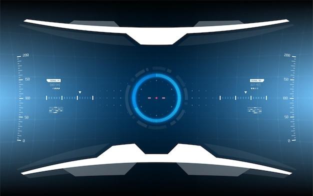 Conception d'affichage de l'interface utilisateur scifi pour le hud futuriste de l'armée et du vaisseau spatial