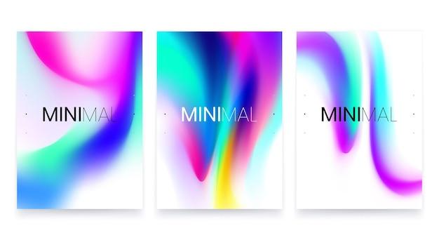 Conception d'affiche a4 noir dégradé fluide minimaliste à la mode