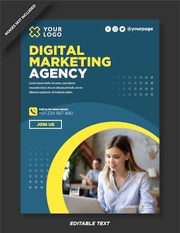 Conception d'affiche d'agence de marketing numérique