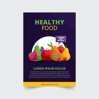 Conception d'affiche des aliments sains