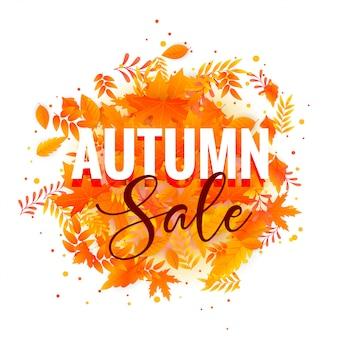 Conception d'affiche automne saké avec des feuilles d'automne
