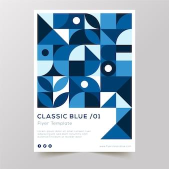 Conception d'affiche bleue classique abstraite