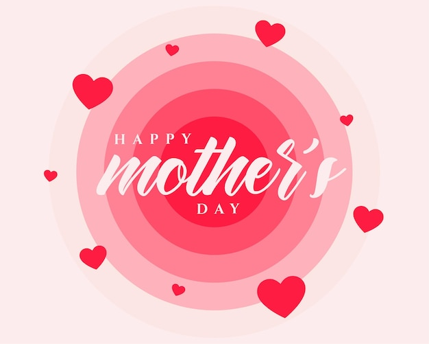 Conception d'affiche de bonne fête des mères avec des coeurs rouges
