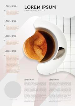 Conception d'affiche de café
