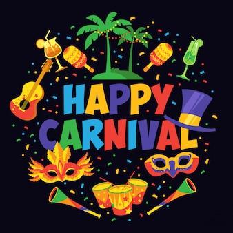 Conception d'affiche de carnaval