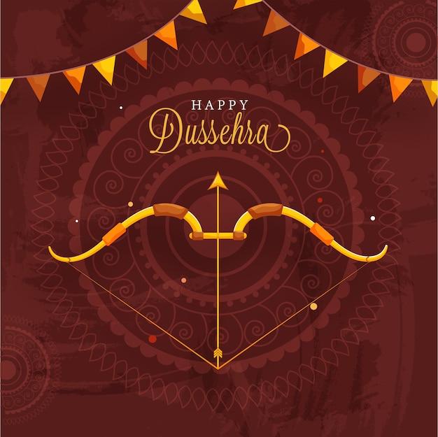Conception d'affiche de célébration de dussehra heureux