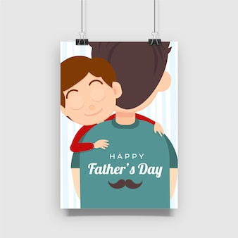 Conception d'affiche de célébration de la fête des pères