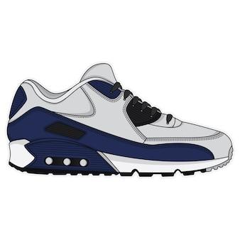 Conception d'affiche de chaussures de sport