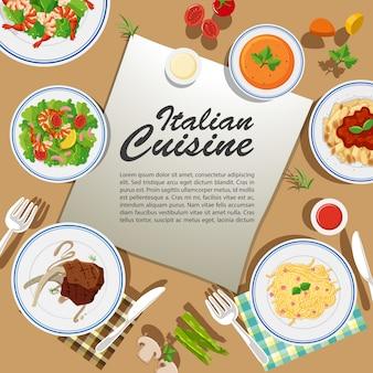 Conception d'affiche avec divers aliments
