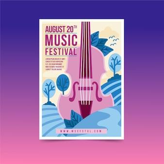 Conception d'affiche du festival de musique 2021