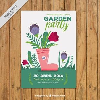 Conception de l'affiche du parti de jardin