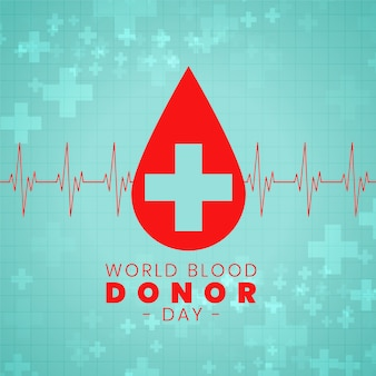Conception d'affiche d'événement international pour la journée du don de sang