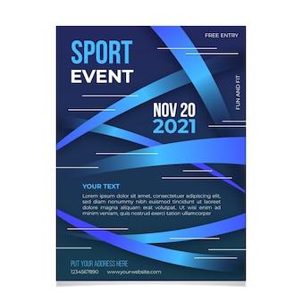 Conception d'affiche d'événement sportif 2021