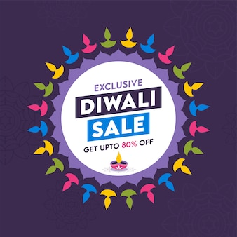 Conception d'affiche exclusive de vente diwali