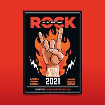 Conception d'affiche de festival de musique illustrée 2021