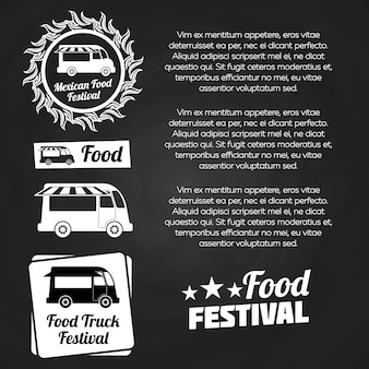 Conception d'affiche de festival de nourriture chalkboard
