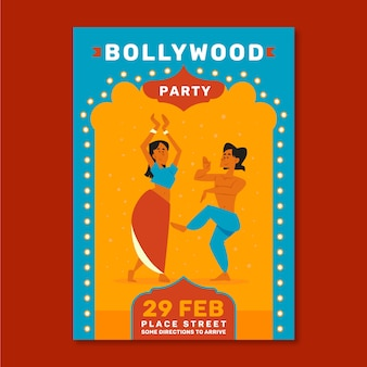 Conception d'affiche de fête de bollywood