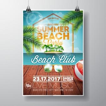 Conception de l'affiche de fête d'été